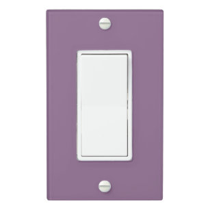 Plum Solid Color Light Switch Cover