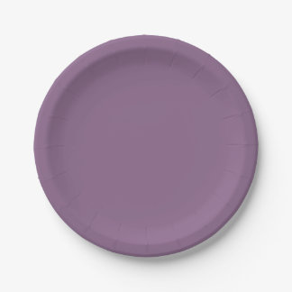 Plum Solid Color Paper Plate