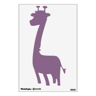 Plum Solid Color Wall Decal