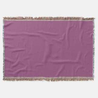 PLUM  (solid purple color) ~ Throw Blanket