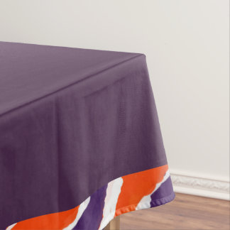 Plum Solid Tiger Lined Striped Table Cloth