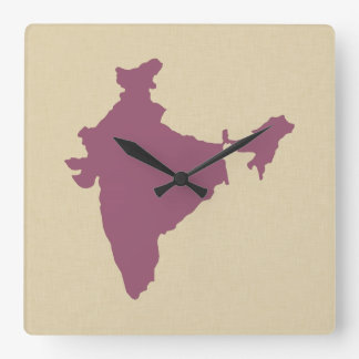 Plum Spice Moods India Square Wall Clock