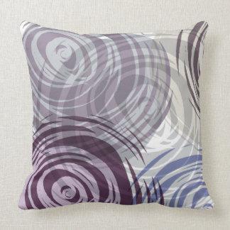 PLUM SPIRAL DESIGN Retro Throw Pillow