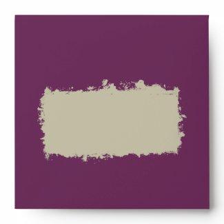 Plum Square Invitation Envelope envelope