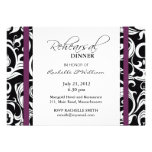 Plum Swirl Rehearsal Dinner Card Personalized Invitations