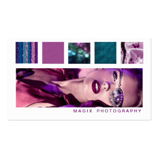 Plum & Teal Boxes Photo Business Card