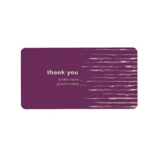 Plum Thank You Gift Sticker label