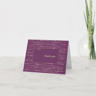 Plum Thank You Note Card card