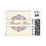 Plum Thank You Postage Stamp (Small)