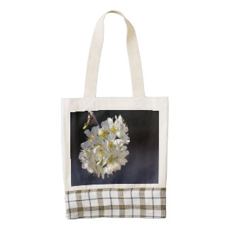 Plum Tree Blossoms Zazzle HEART Tote Bag