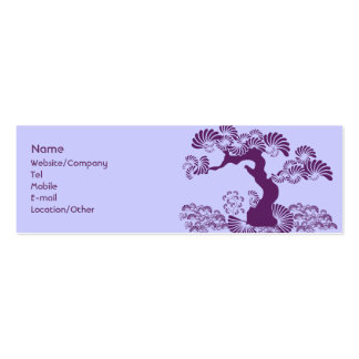 Plum Tree Double-Sided Mini Business Cards (Pack Of 20)