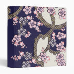 Plum tree flowers traditional japanese textile 3 ring binders