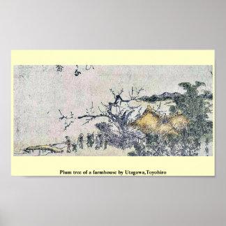 Plum tree of a farmhouse by Utagawa,Toyohiro Poster