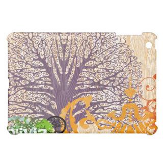 Plum Tree Swirl Grunge Damask iPad Cover