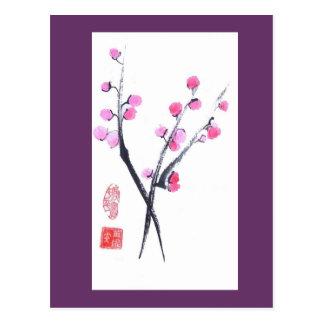 Plum Tree Twig Postcard
