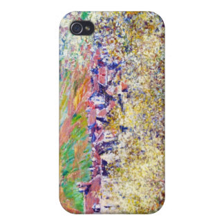 Plum Trees in Blossom at Vetheuil Claude Monet iPhone 4/4S Cover