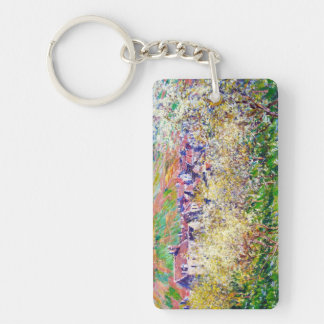 Plum Trees in Blossom at Vetheuil Claude Monet Acrylic Key Chain