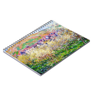 Plum Trees in Blossom at Vetheuil Claude Monet Notebook
