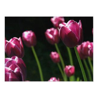 Plum Tulips Personalized Invites