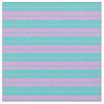 [ Thumbnail: Plum & Turquoise Colored Stripes/Lines Pattern Fabric ]