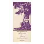 plum vintage love tree wedding programs rack card template
