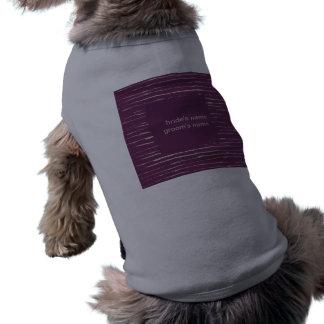 Plum Wedding Dog T-shirt