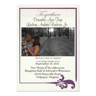 Plum Wedding Invitation