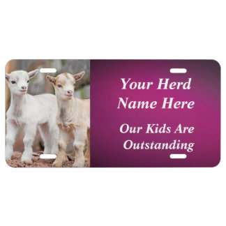 PLUM YOUR GOAT PHOTO and HERD NAME License Plate