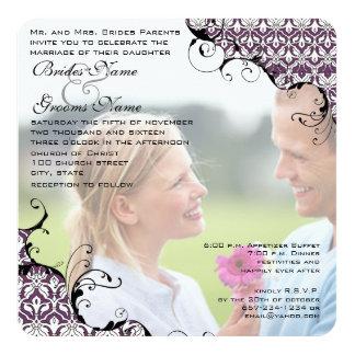 Plum Your Photo Wedding Invite- I marry my Friend Card