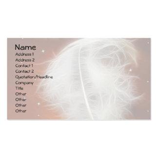 Pluma 2 del ángel tarjetas de visita