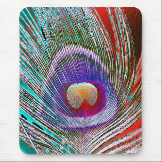 Pluma 3 del pavo real mouse pads