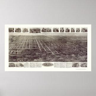 Pluma Argyl, mapa panorámico del PA - 1916 Posters