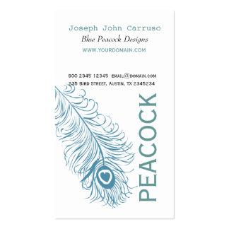 Pluma azul clásica del pavo real