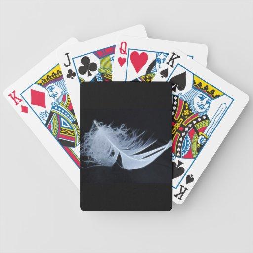 Pluma blanca - angelical por la naturaleza baraja de cartas