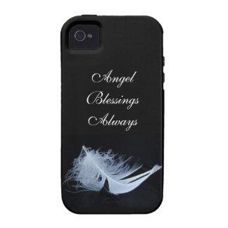 Pluma blanca - angelical por la naturaleza vibe iPhone 4 carcasas