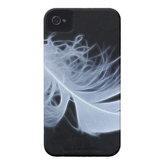 Pluma blanca - angelical por la naturaleza iPhone 4 cobertura