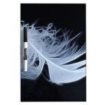 Pluma blanca - angelical por la naturaleza tableros blancos