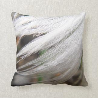 Pluma blanca del cisne de la almohada de tiro cojín decorativo