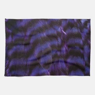 Pluma colorida retra púrpura