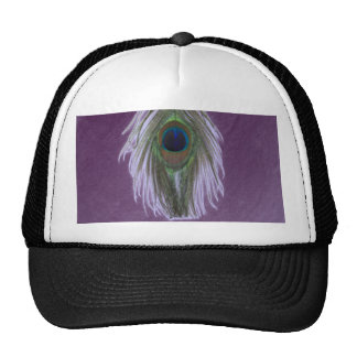 Pluma D del pavo real de la lila Gorros