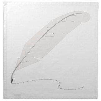 Pluma de canilla servilleta de papel