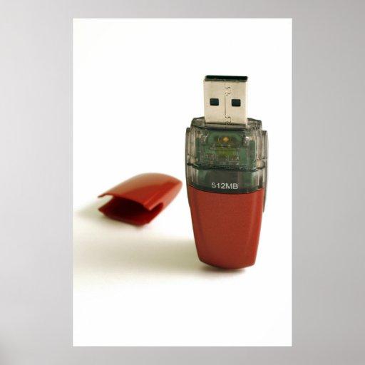Pluma de destello de USB Impresiones