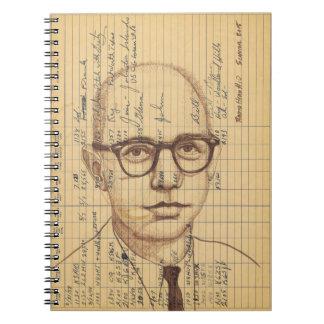Pluma de dibujo contemporánea de radio del retrato libretas espirales