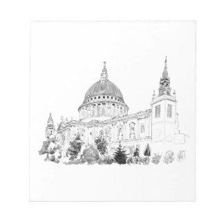 Pluma de la catedral de San Pablo y dibujo de la Bloc De Papel
