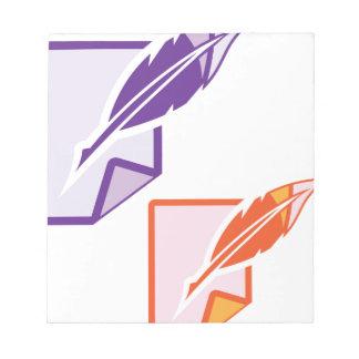 Pluma de la pluma bloc de notas