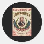 Pluma de Lincoln Pegatinas Redondas
