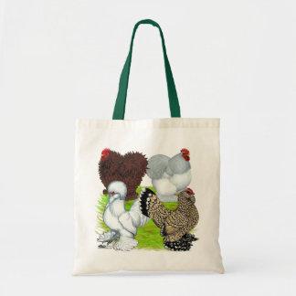 Pluma de los gallos Legged Bolsa Tela Barata