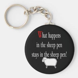 Pluma de ovejas llavero personalizado