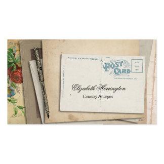 Pluma de papel de la postal de las Ephemeras del Tarjetas De Visita