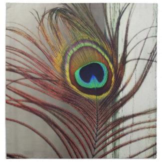 Pluma de reclinación del pavo real servilleta